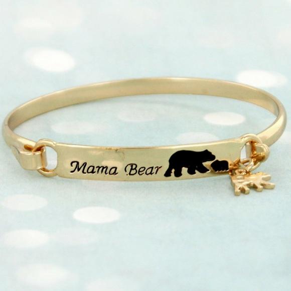 4e7496929 Golden Dahlia Boutique Jewelry   Goldtone Mama Bear With One Cub ...